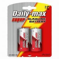 Buy LR14 C 1.5V Alkaline Batteries with Blister Card Packing at wholesale prices