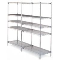 Quality Chrome Industrial Wire Shelving  , 5 Tiers ESD Rack PCB Wire Mesh Shelving System For Electronics Industry for sale