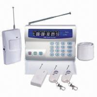 Quality GSM Alarm Sytem with Color LCD Screen, 10 Wireless Zones, Call 3 Preset Phone Numbers When Alarm  for sale