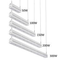 Quality Dimmable LED Linear High Bay Light Hanging Warehouse Lights Industrial 300w for sale