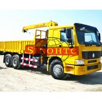 Quality 6x4 Truck Mounted Hydraulic Crane , 10 Tons Lifting Load Truck Mounted Crane for sale