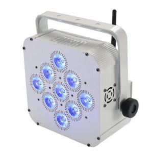 Quality 9*15w RGBWA+UV 5in1/6in1 Wireless Dj Lights , Led Flat Par Light WIFI App Control Model for sale