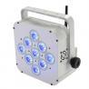 Buy cheap 9*15w RGBWA+UV 5in1/6in1 Wireless Dj Lights , Led Flat Par Light WIFI App from wholesalers
