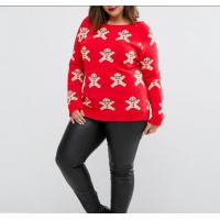 China snowman design adult clothing longsleeve plus size women red xxxxl christmas jumpers on sale