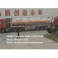 Customizable steel fuel tanker semi trailer for transportation kinds of liquid