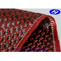 Quality High Tensile Strength  Red Carbon Fiber Kevlar Hybrid With Jacquard Fishtail Pattern for sale
