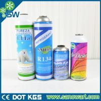 Quality 99.9% PURITY refrigerant R134a can packing for auto a/c for sale