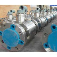 China Cast Steel Floating Ball Valve Blowout Proof Stem Reduced Bore Nace MR-01-75 on sale