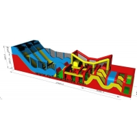 China 23×5M Inflatable Obstacle Courses Inflatable Slide  Inflatable Bounce on sale