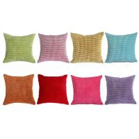 China 18 x 18 Embroidery Velvet Sofa Pillows For Bed , Green Pink Cushion Cover on sale
