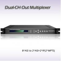 Quality RTS4002 digital tv headend Dual-Channel Out TS Multiplexer 8*ASI Input 2*IP&ASI output for sale
