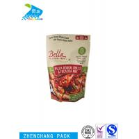 China Pizza Dough Stand Up Barrier Pouches Heat Seal Resealable Food Packaging on sale