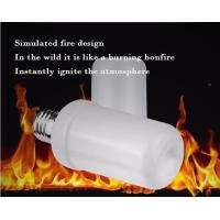 Quality LED Flame Bulb Flash Lighting Mode E27 B22 4.5W CE ROHS dimmable 1400K yellow color PC SMD2835 chip for sale