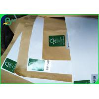 China 100gsm + 15g Single PE Poly Coated White & Brown Kraft Paper Roll For Food Bags on sale