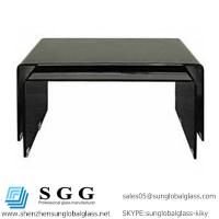 Quality Grade A High quality of black curved shape glass tops for sale
