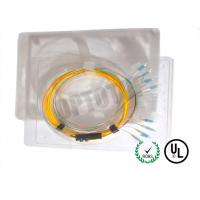 Best Eight Core Single Mode MPO Fiber Optic Patch Cord Female To LC / UPC 2mm-0.9mm wholesale
