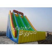 China Backyard Giant Kids Inflatable Slides Bouncy PVC For Kids / Adults on sale