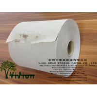 China brown roll towel paper,720'/roll recycled pulp on sale
