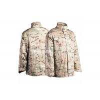 Quality Outdoor M65 Military Tactical Jackets Water Repellent With Concealed Hood for sale