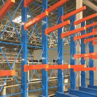 Quality Red Blue Cantilever Pallet Racking , Industrial Cantilever Metal Storage Racks for sale