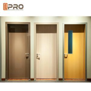 Quality Fire Resistance MDF Interior Doors Flat Insert Shape For Kindergarten Room for sale