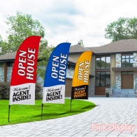 Quality Eye Catching Swooper Teardrop Banner Flags for Advertising for sale