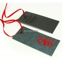 Quality Rectangle Clothing Hang Tags With Deboss Logo , Brand Sewing Tags For Business for sale