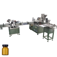 Quality 60ml contact lens and liquid wash filling machine liquid clean glasses filling machine line with plastic bottle for sale