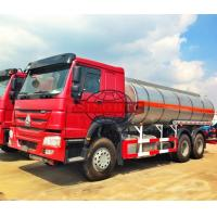 Quality 6X4 Stainless Steel Fuel Transport Trucks , 20000 - 25000 Liter Gasoline Tanker Truck for sale