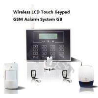Quality Wireless LCD Touch Keypad GSM Alarm System GB for sale