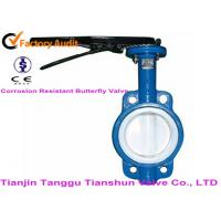 Quality API598 Corrosion Resistant Valves Lever Operated , Wafer Butterfly Valve for sale