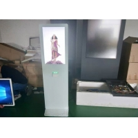 Quality white touch screen directory kiosk 32 inch 43 inch Touch Screen  kiosk with printer for sale