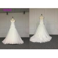 Quality Ladies Wedding Dresses strapless dress with skirt braces Crushed drill mosaic Receiving waist design for sale