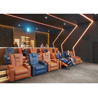 Quality Customize Electric Recliner Leather Sofa Home Cinema Theater With Projector / Speaker for sale