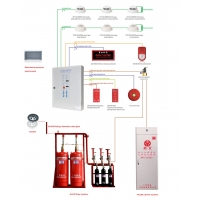 China Computer Room FM200 Fire Alarm And Fire Fighting System on sale