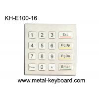 Quality Rugged Waterproof Access Control Keypad , Stainless Steel Numeric 16 Key Keypad for sale