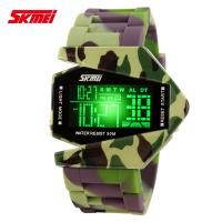 Quality Army Camouflage EL Backlight Digital Wrist Watch , Multifunction Outdoor Sport Watches for sale