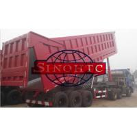 Quality 35m3 Tri Axle Dump TrailerWith Assistant Cylinder , 80T Semi Trailer End Dump Truck for sale