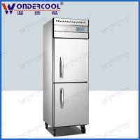 Quality 2doors 201/304 stainless steel kitchen commercial refrigerator chiller fridge freezer for sale