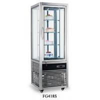 Quality Fan Cooling Fast Cool All-sides Glass Refrigerated Cake Showcase 418L Electricity Power Source for sale