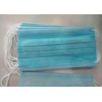 Quality Non Woven Fabric Earloop Face Mask Nose Bar Adaptable Non Poisonous for sale