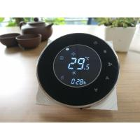 Buy Black Round Smart Thermostat For Fan Coil Units With 0 - 10V Modulating at wholesale prices