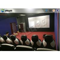 Quality Park 9D Cinema Seat With Electric / Pneumatic System Round Screen for sale