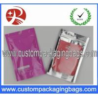 Quality Pink Foil Plastic Ziplock Bags For T Shirt , resealable plastic bags for sale