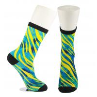 China Adults  OEM Service  Breathbale Eco-friendly Custom Made Size 3D-Printing Socks for sale