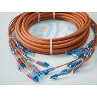 Best Orange Optical Fiber Patch Cord , Pre-Terminated Fibre Optic Cable LC wholesale