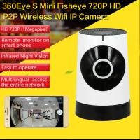 Quality EC5 720P Fisheye Panorama WIFI P2P IP Camera IR Night Vision CCTV DVR Wireless Remote Surveillance on iOS/Android App for sale
