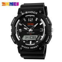Quality Big Face Black Digital Wrist Watch Shock Resist For Fashion Men for sale