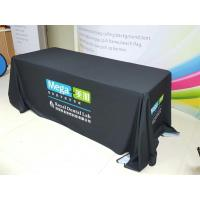 Quality Trade Show Customized Size Stretch Fabric Table Cover Dye Sublimation Printing for sale
