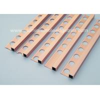 China Durable 10mm Metal Square Edge Tile Trim For Counter Top Or Window Sill on sale